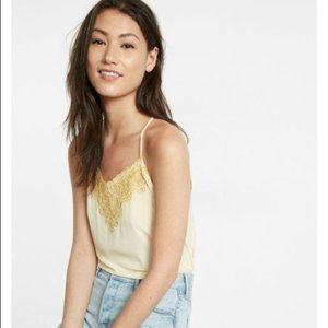 Express Yellow Embroidered Tank Top Sz M
